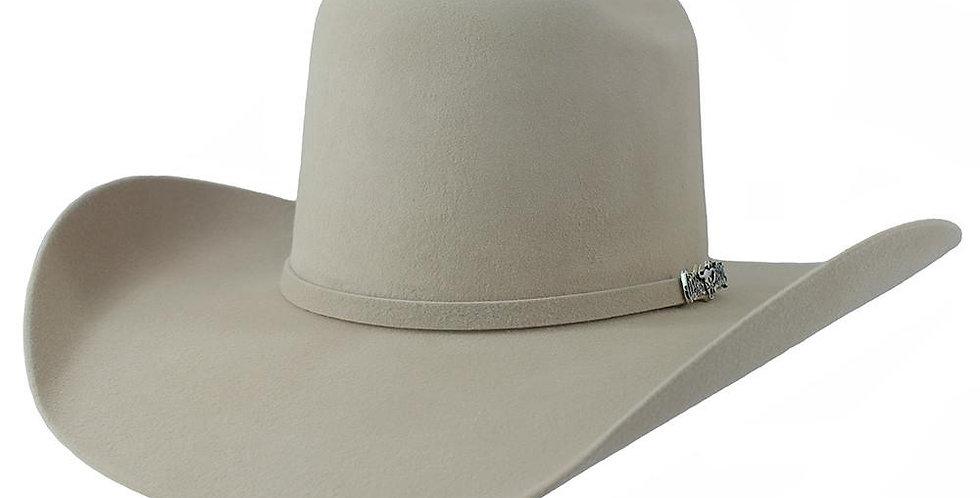 Cuernos Chuecos 6X Silver Belly Brick Crown Felt Hat