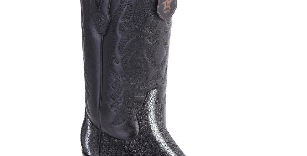 Los Altos Row-Stone Cowboy Boots R-Toe