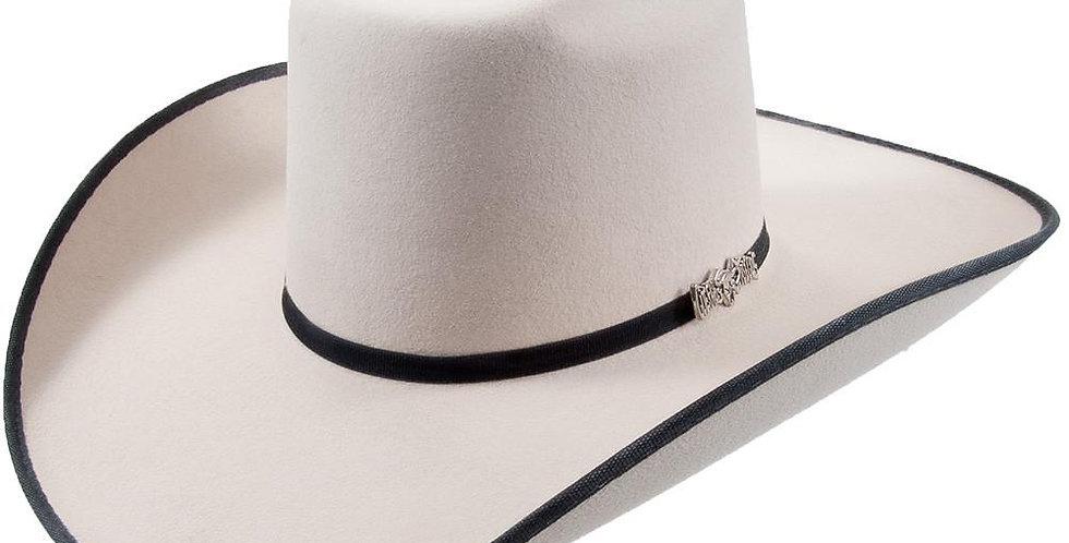 Cuernos Chuecos Doble Peligro Silver Belly Brick Crown Felt Hat