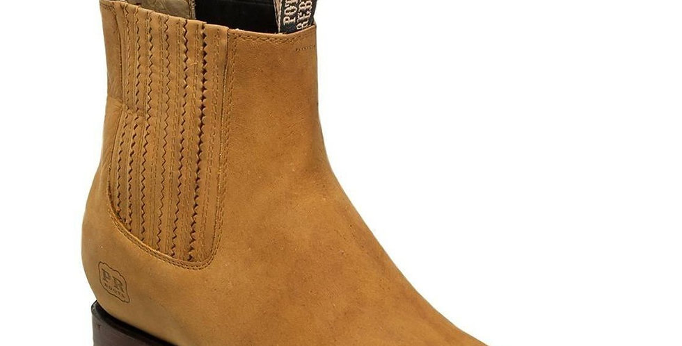 Men's Suede Charro Square Toe Boots