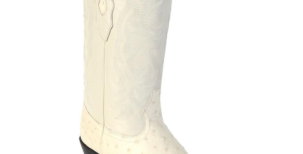 Los Altos Winter White Ostrich Cowboy Boot J Toe