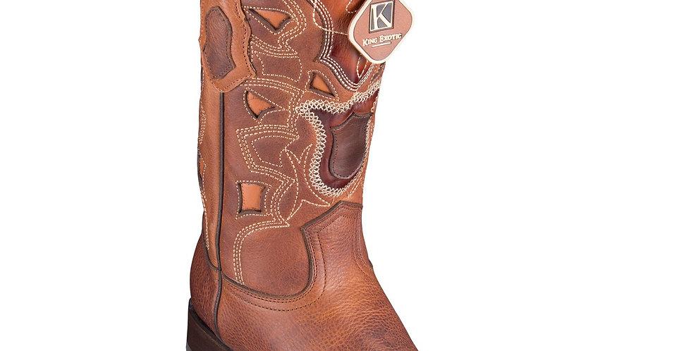 Los Altos Men's Rage European Toe Cowboy Boots - Walnut
