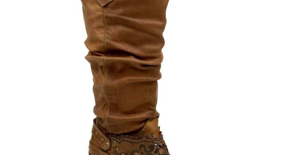 Cuadra Women's Golden Rustic Finish Boot