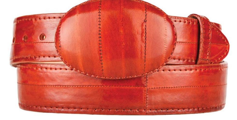 Cognac Eel Cowboy Belt
