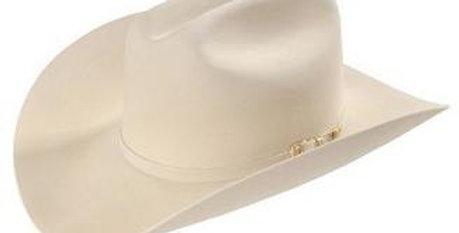 30x Larry Mahan Opulento Fur Felt Cowboy Hat Silver Belly