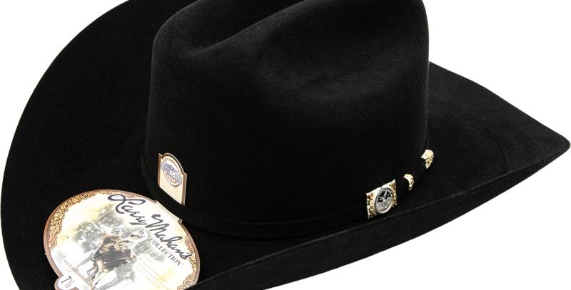 100x Larry Mahan Independencia Fur Felt Cowboy Hat Black