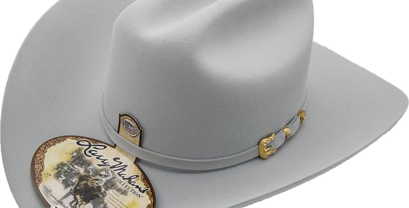 30x Larry Mahan Opulento Fur Felt Cowboy Hat Platinum