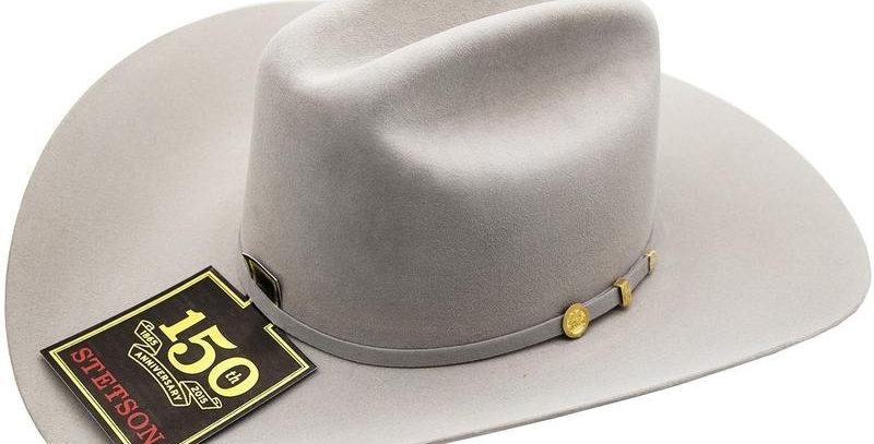 100x El Presidente Stetson Hat - Mist Gray