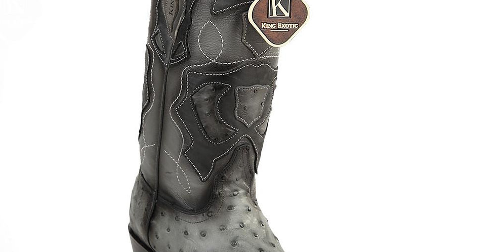 King Exotic Men's Ostrich Western Snip Toe Boots