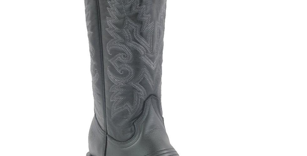 White Diamonds Boots Women's Black Wide Square Toe Boots