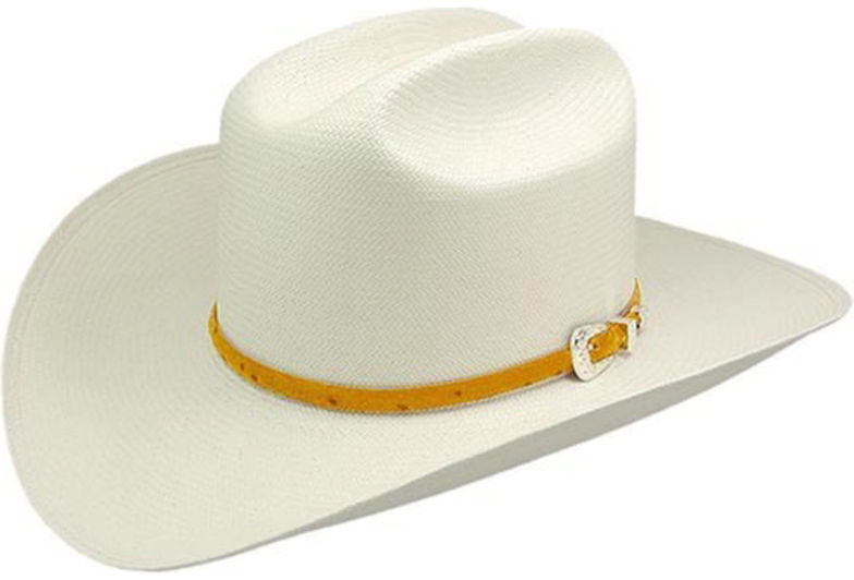 Stetson Men's Natural Primo M Straw Hat with Cognac Band