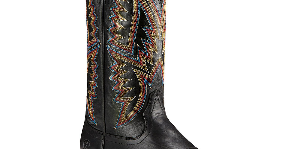 Ariat Hesston Midnight Black Square Toe Boots