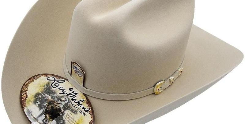 6x Larry Mahan Real Fur Felt Cowboy Hat Silver Belly