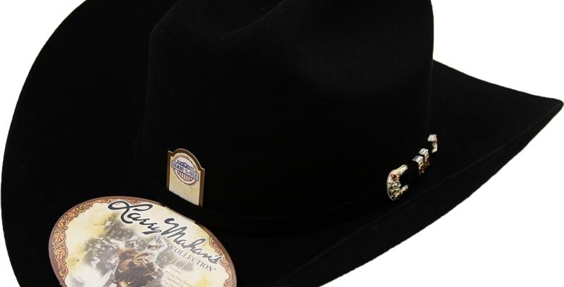 10x Larry Mahan Jerarca Fur Felt Cowboy Hat Black