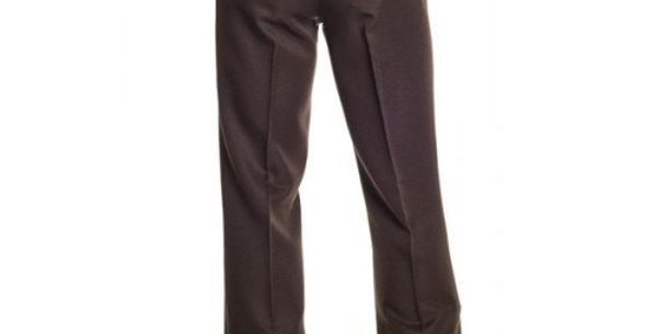Circle S Men's Apparel - Solid Polyester Dress Ranch Pant - Brown