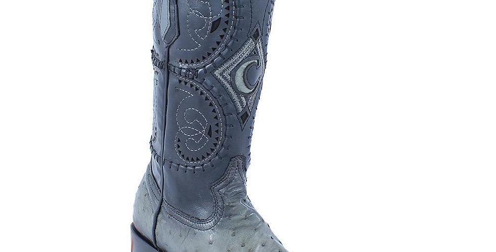 Cuadra Men's Flama Gris Ostrich Western Snip Toe Boot - Baby blue