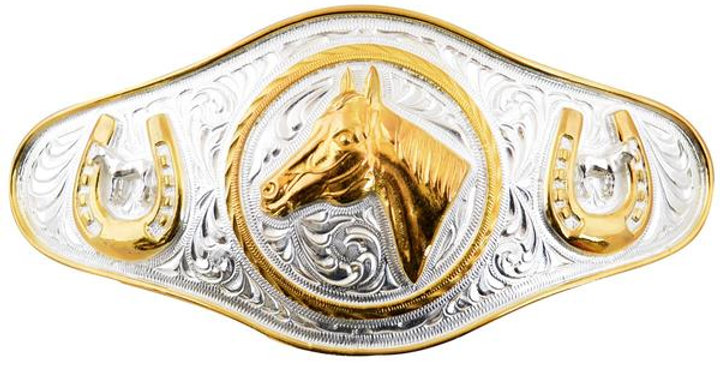 METAL BUCKLE WITH HORSE HEAD WD024