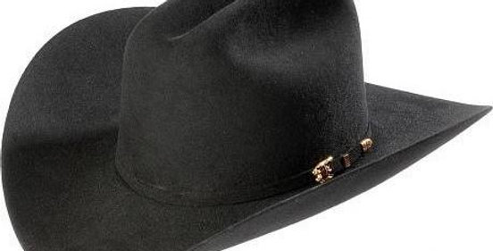 8x Larry Mahan El Tigre Fur Felt Cowboy Hat Black