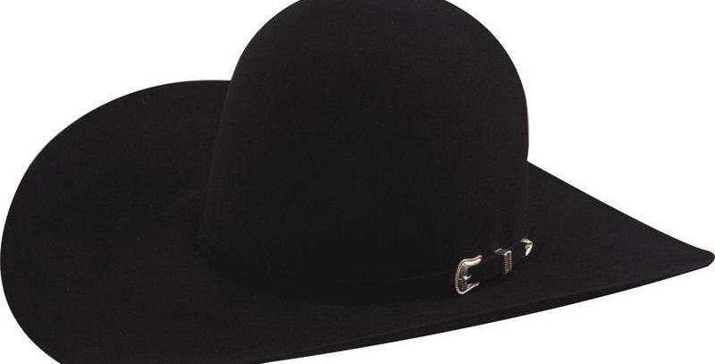 American Hat Co 10X Black Open Crown Felt Cowboy Hat