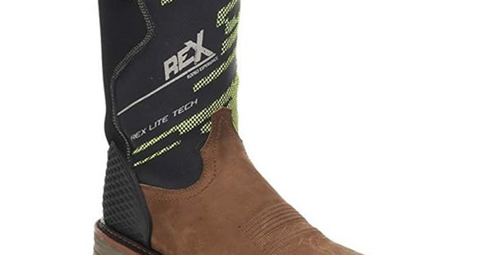 Montana Men's Square Toe Work Boots - Gaucho Mango