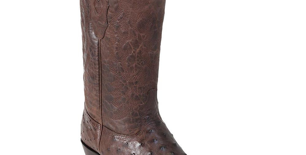 Los Altos Brown Ostrich Cowboy Boot J Toe