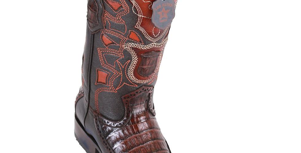 Los Altos Men's Caiman European Toe Western Boots - Faded Brown