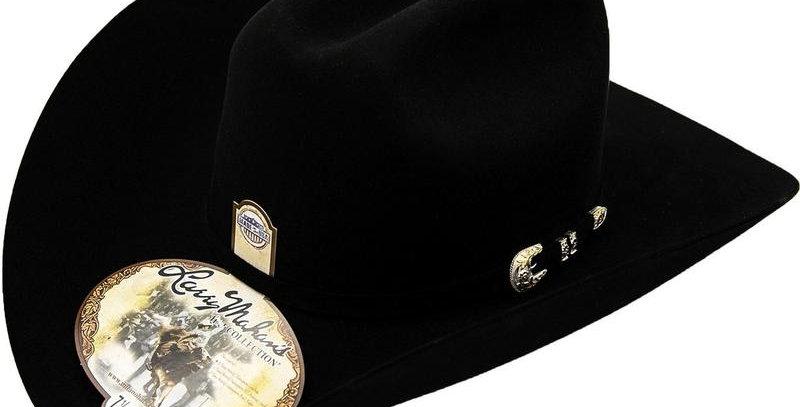 500x Larry Mahan Superior Fur Felt Cowboy Hat Black