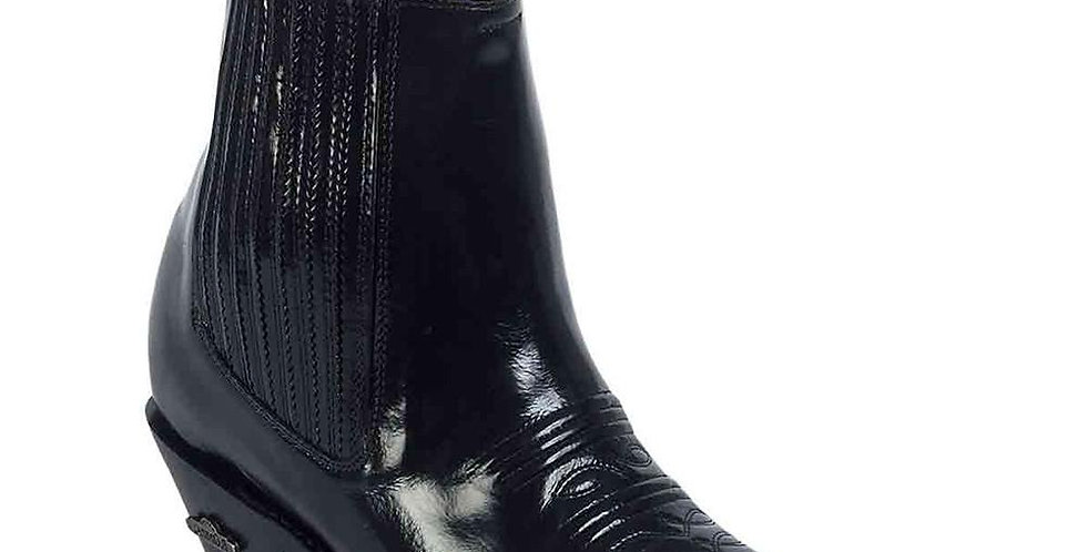 Men's Pointed Toe Western Ankle Boots