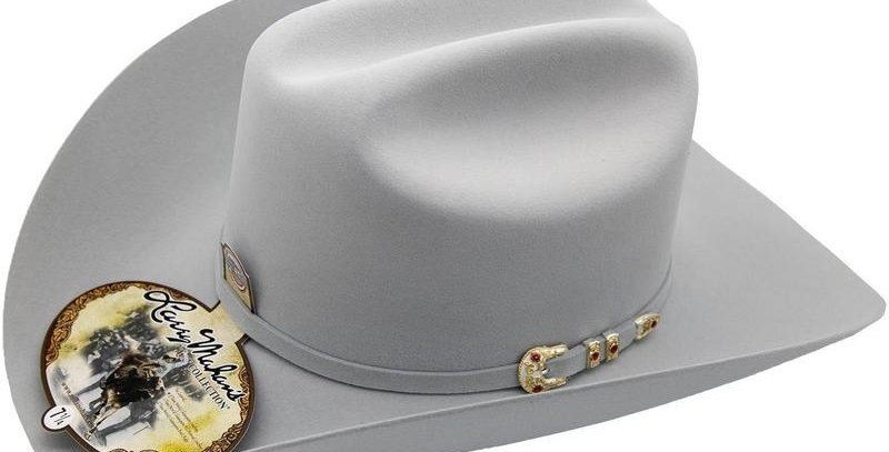 10x Larry Mahan Tucson Fur Felt Cowboy Hat Platinum