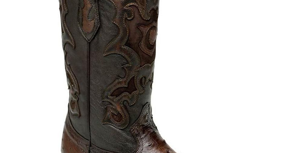Cuadra Men's Ostrich Flame Chihuahua Pointed Toe Boots