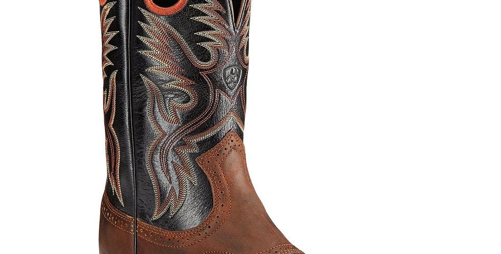 Ariat Men's Heritage Roughstock Western Boot Bar Top Brown