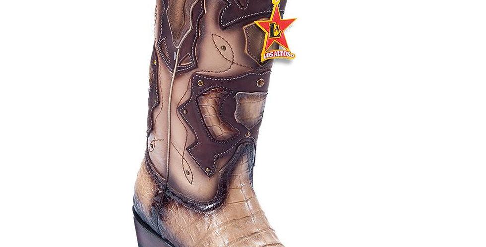 Los Altos Men's Pointed Toe Caiman Belly Cowboy Boots
