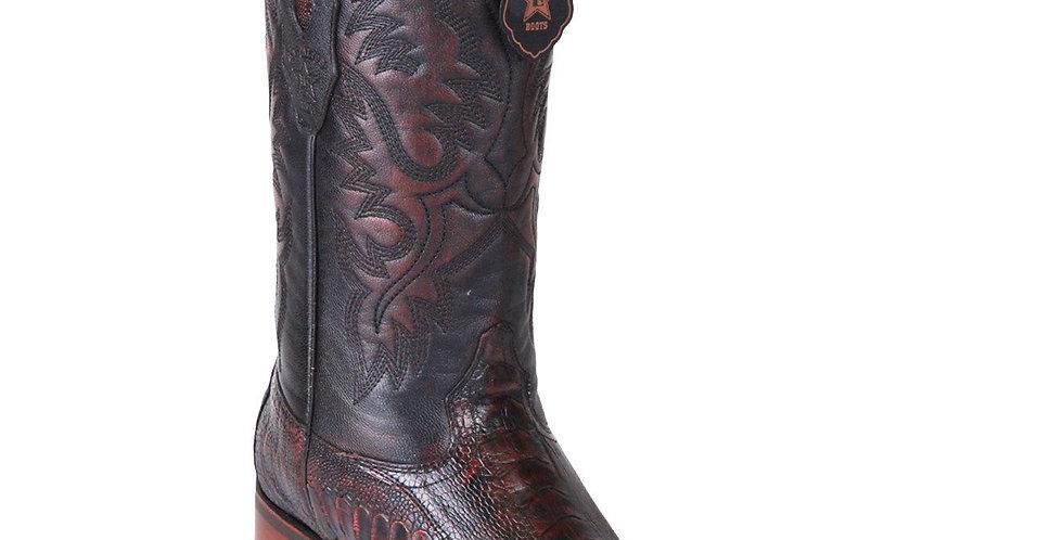 Los Altos Men's Ostrich Leg Square Toe Cowboy Boots