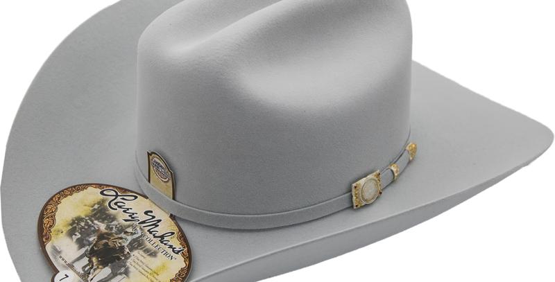 100x Larry Mahan Independencia Fur Felt Cowboy Hat Platinum