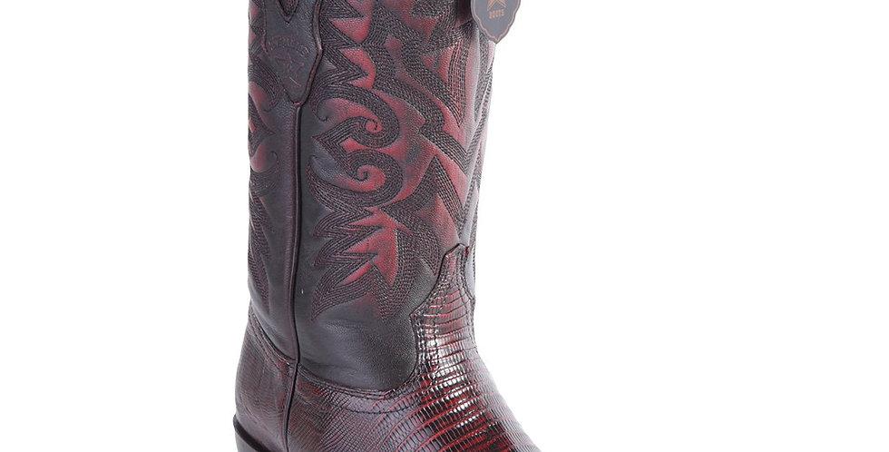 Los Altos Men's Lizard Teju Cowboy Boots 7-Toe
