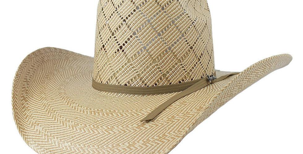Tombstone Longhorn Brick Crown Cowboy Hat Tan/Beige