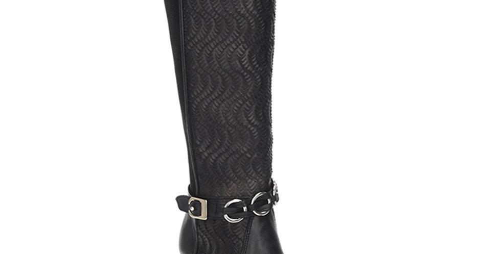 Cuadra Ladies Res Volturno Black Tall Boot