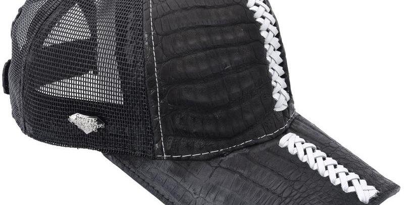 Cachucha Caiman Negro con Costura