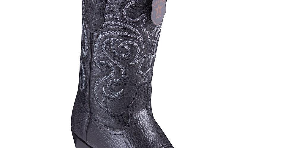 Los Altos Shark Black Cowboy Boots J-Toe