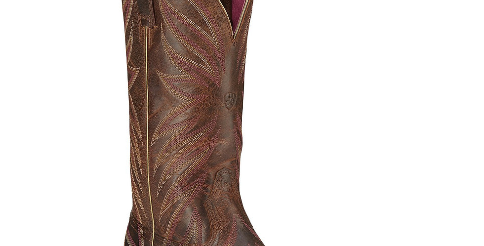 Ariat Women's Brilliance Sassy Brown Square Toe Boot