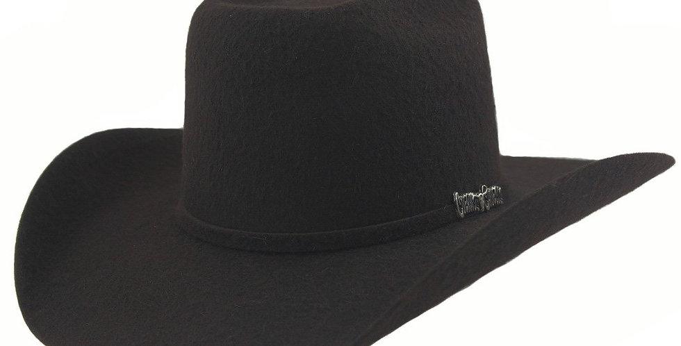 Cuernos Chuecos 10x Grizzly Black Fur Felt Cowboy Hat