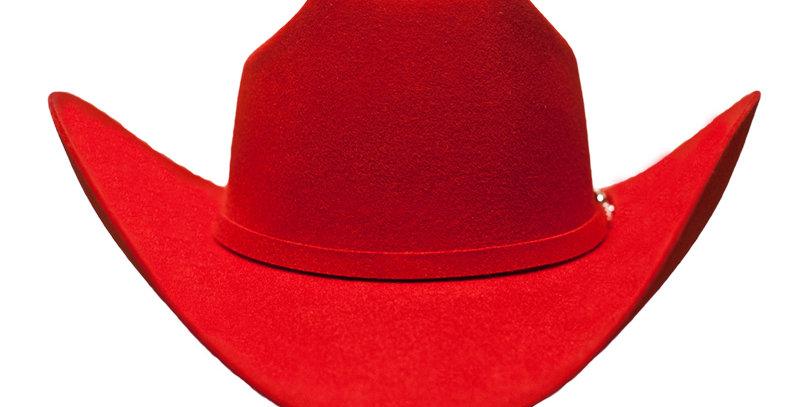 RRango Hats 10X Maximo - Red Felt Hat