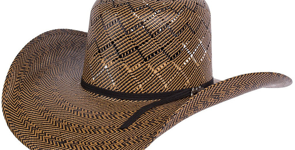 Tombstone Open Crown Diamond Pattern Cowboy Straw Hats