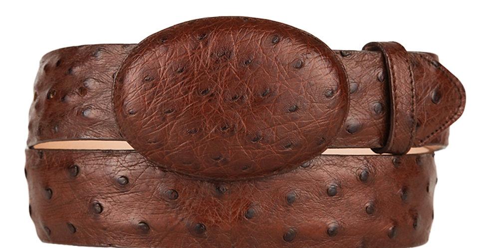 Los Altos - Men's Brown Ostrich Cowboy Belt
