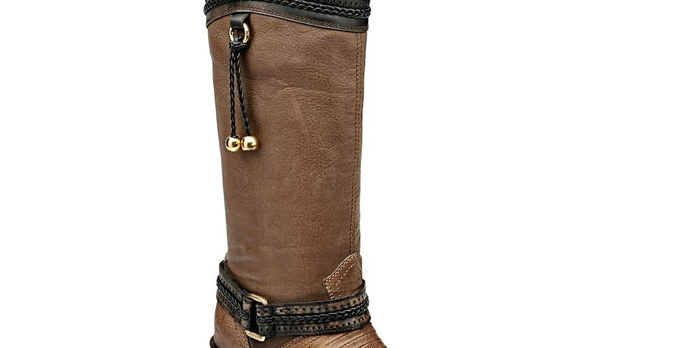 Cuadra Higgs Expresso Ladies Lizard Boot