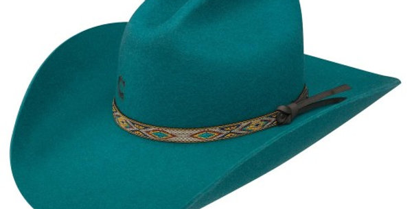 Charlie 1 Horse Teal With It – Wool Cowgirl Hat
