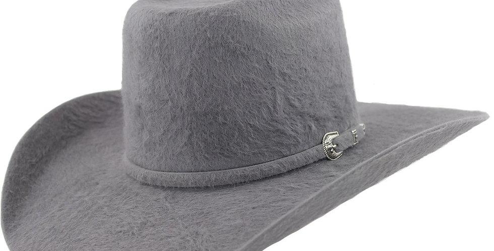 Cuernos Chuecos 30x Dark Gray Grizzly Fur Felt Cowboy Hat