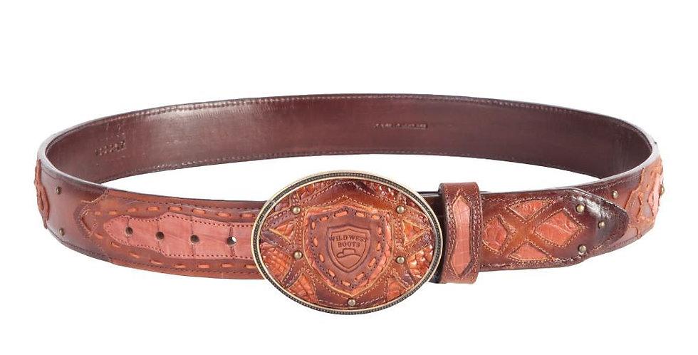 Wild West Men's Caiman Western Fashion Belt