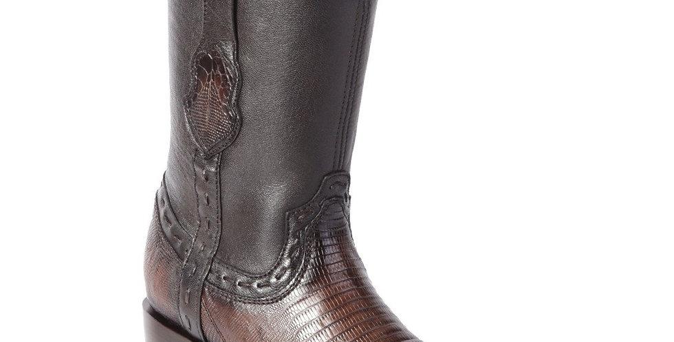 King Exotic Men's Lizard Teju Dubai Toe Boots