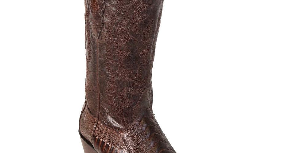 Los Altos Men's Ostrich Leg Cowboy Boots - Snip Toe